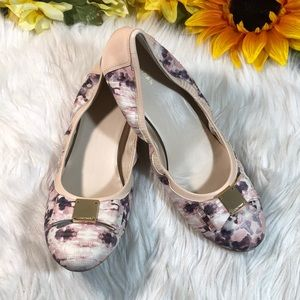 Cole Haan Abstract Print Leather Wedge 10B